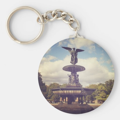 Angel of the Waters, Central Park, New York City Key Chain