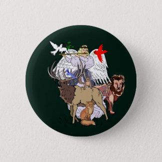Angel Of Wild Animals Button