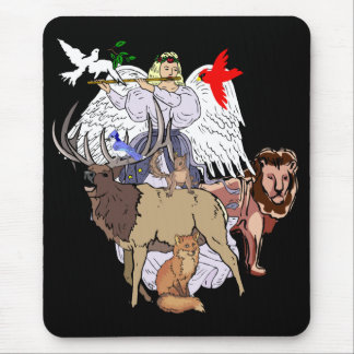 Angel Of Wild Animals Mouse Pad