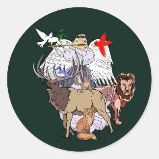 Angel Of Wild Animals Stickers