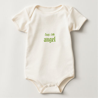 Angel Olive Green Wings Baby Shirt
