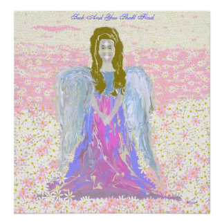 Angel On Canvas Poster