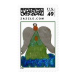 Angel on Clouds Postage Stamp