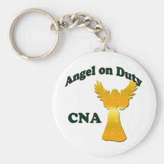 Angel on Duty Basic Round Button Keychain