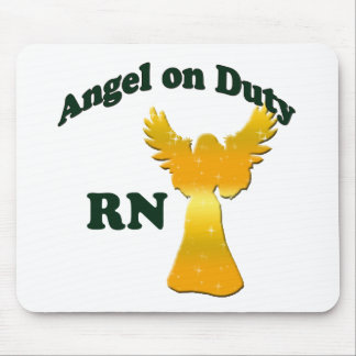 Angel on Duty Mouse Pad