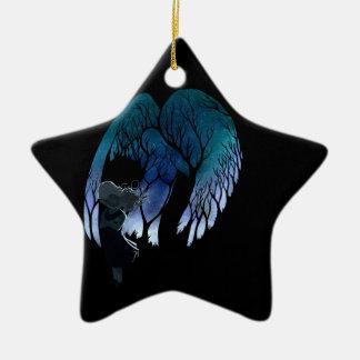 Angel on my shoulder ceramic ornament