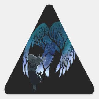 Angel on my shoulder triangle sticker