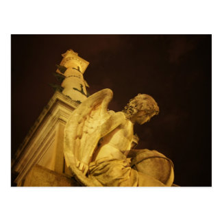 Angel on the Base of Christopher Columbus Statue Postcard