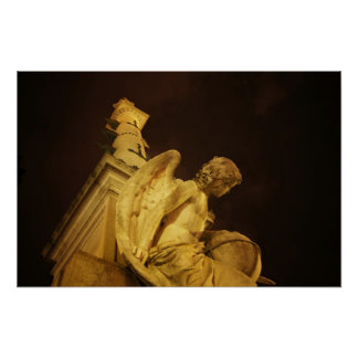 Angel on the Base of Christopher Columbus Statue Print
