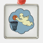 Angel On The Court Christmas Tree Ornament