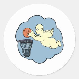 Angel On The Court Classic Round Sticker