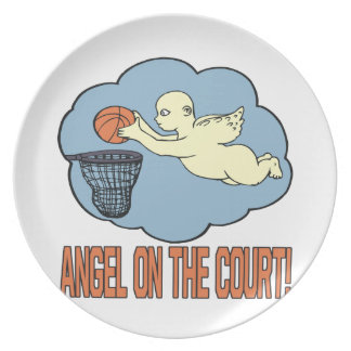 Angel On The Court Dinner Plate