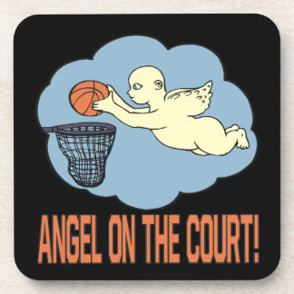 Angel On The Court Drink Coaster
