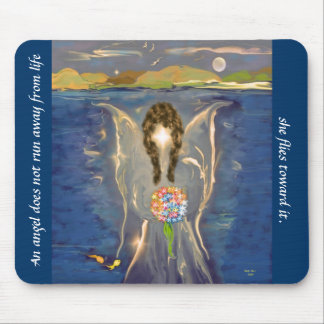 Angel On The Water Mouse Pad