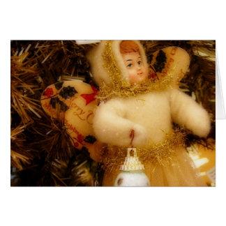 Angel on Tree, Happy Holidays Card