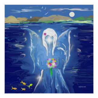 Angel On Water Poster