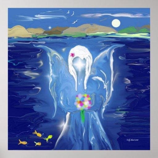 Angel On Water Print