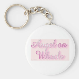 angel_on_wheels basic round button keychain