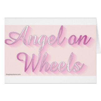angel_on_wheels greeting card