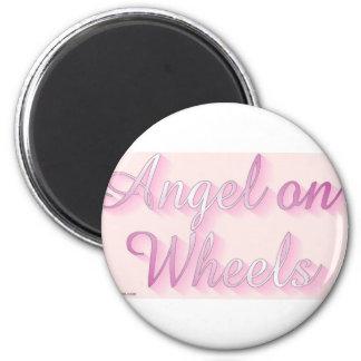 angel_on_wheels imán redondo 5 cm