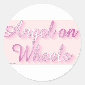 angel_on_wheels pegatina redonda