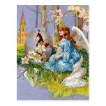 Angel Opening An Easter Egg Postcard