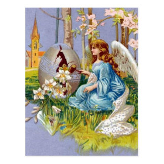 Angel Opening An Easter Egg Postcard