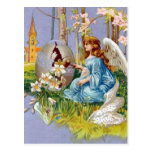 Angel Opening An Easter Egg Postcards