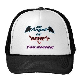 Angel or Devil Typography Trucker Hat