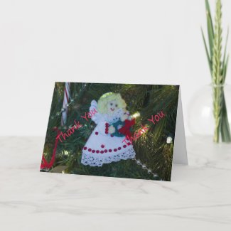 Angel Ornament Thank You Card 2 card