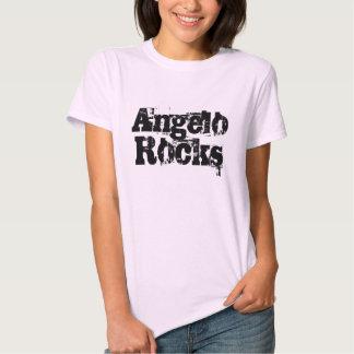 Ángel oscila la camiseta de la mujer polera