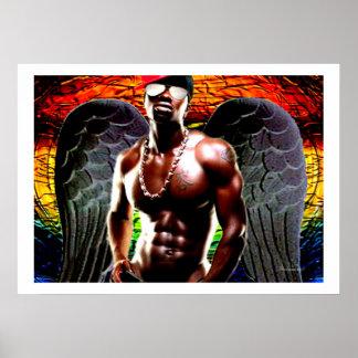 Ángel oscuro africano impresiones