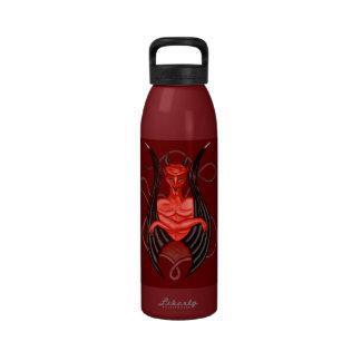 Ángel oscuro botellas de agua reutilizables