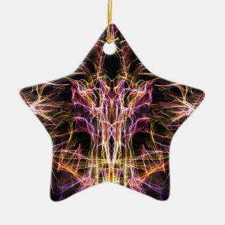 Ángel oscuro de la muerte adorno de cerámica en forma de estrella