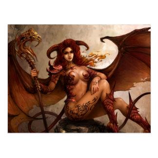 Ángel oscuro demonio de Azmodeus postal