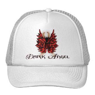 Ángel oscuro en rojo y negro gorra