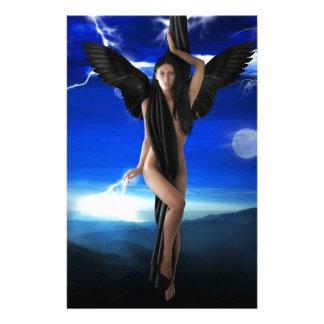 ángel oscuro papelería personalizada