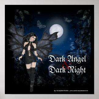 Ángel oscuro y poster de la fantasía de la noche i
