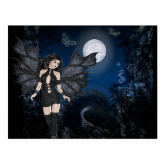 Ángel oscuro y serie oscura de la noche postal