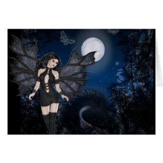 Ángel oscuro y serie oscura de la noche tarjeton