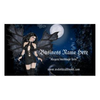 Ángel oscuro y tarjetas de visitas oscuras del vam plantilla de tarjeta de visita