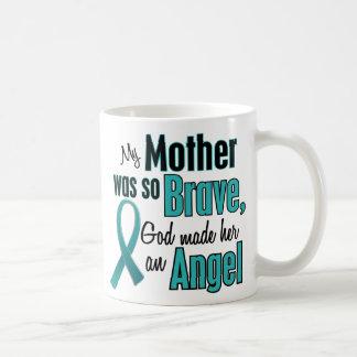 Angel Ovarian / Cervical Cancer Classic White Coffee Mug