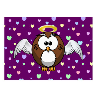 angel owl large business card