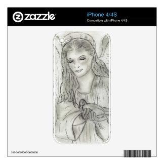 Ángel pacífico calcomanías para el iPhone 4S