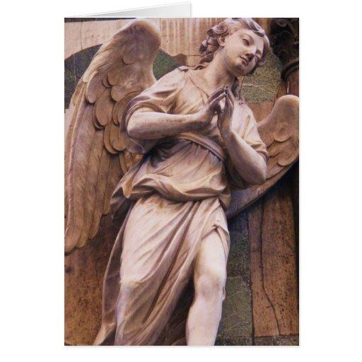 Ángel pacífico del renacimiento tarjeta de felicitación