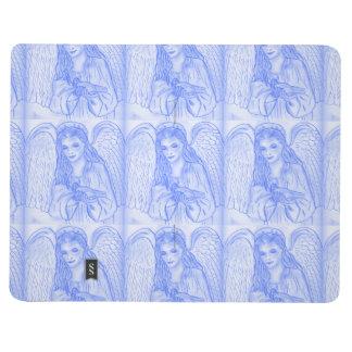 Ángel pacífico en azul cuaderno