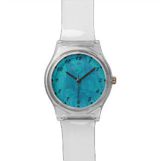 Ángel pacífico en azul reloj de mano
