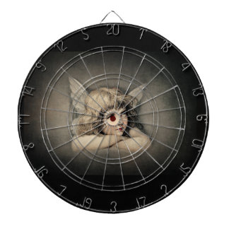 Angel Painting Recolored and Softened Dart Boards