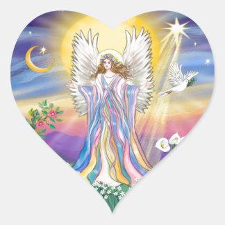 Angel Peace Heart Sticker