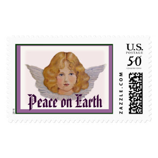 Angel Peace on Earth Stamp